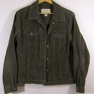 Eddie Bauer Olive Green Corduroy Jacket L